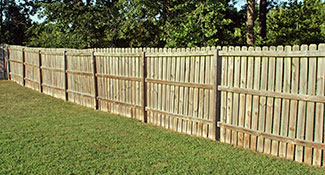 Wooden Garden Fence Installation