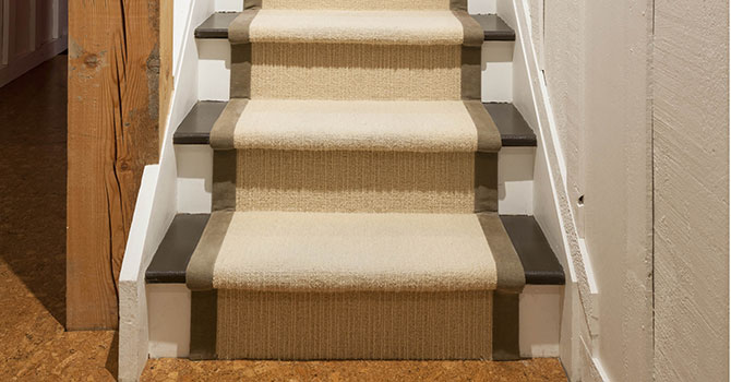 Wooden Stairs with Carpet runner fitting